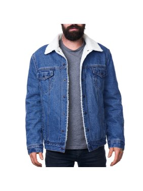 79c7ba93d7c Product Image Alpine Swiss Mens Sherpa Lined Denim Jacket Classic Button Up  Jean Trucker Coat