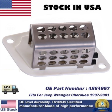 Heater Blower Motor Resistor NEW For 1997-2001 Jeep Wrangler