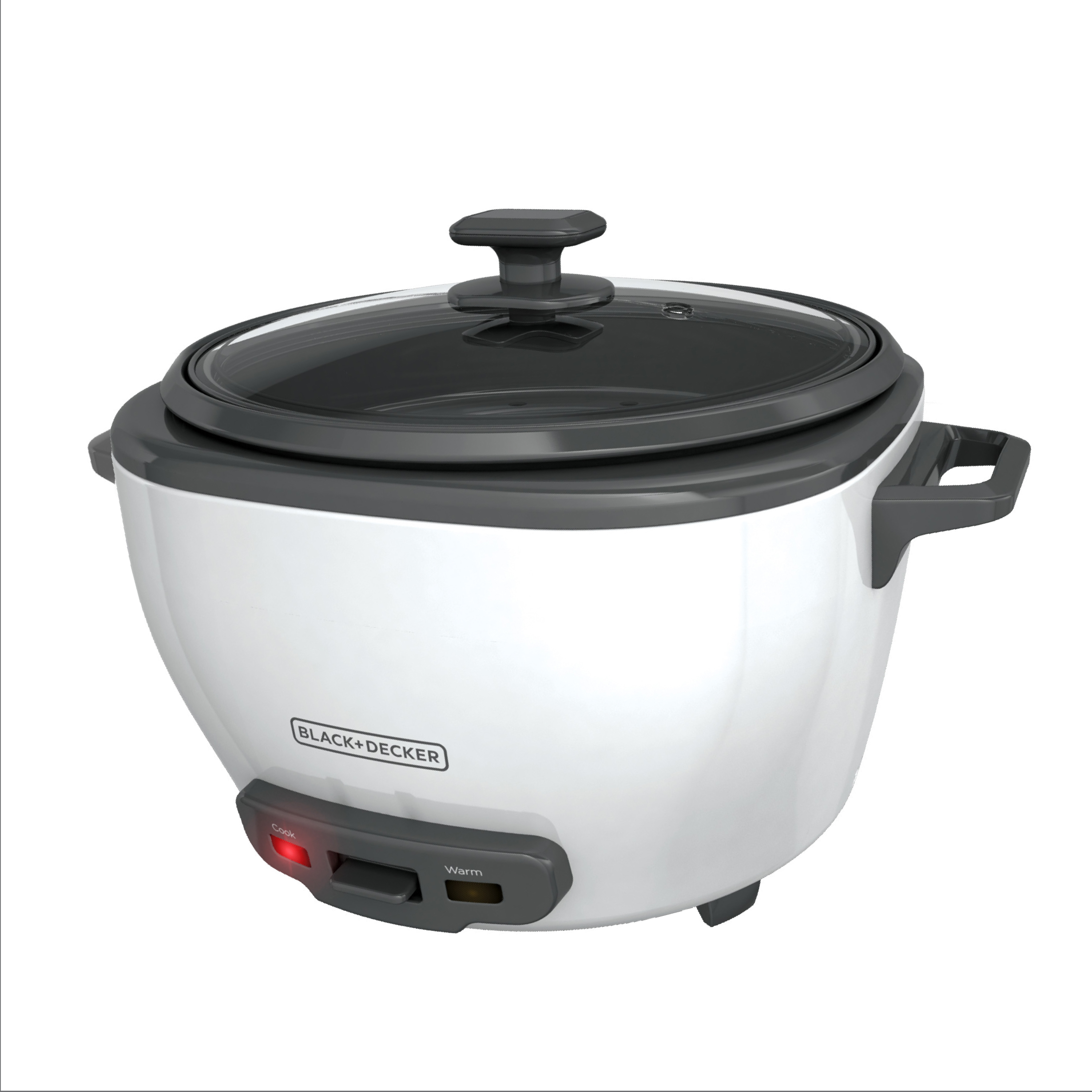 BLACK+DECKER 28-Cup Cooked/14-Cup Uncooked Rice Cooker and Food Steamer, White, RC5280