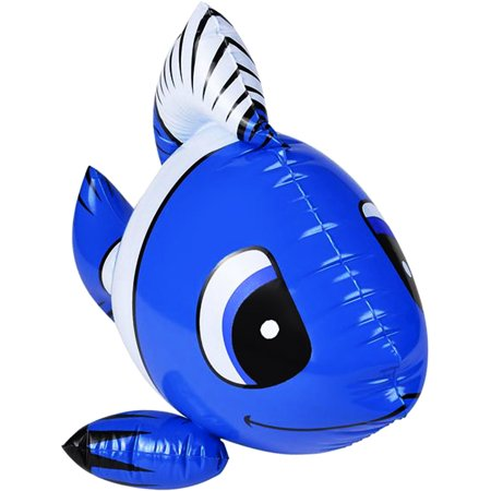 Fish Balloon (Inflatable Dark Blue Tropical Clown Fish Balloon)