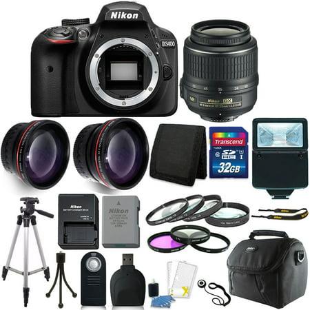 Nikon D3400 24MP Digital SLR Camera + 18-55mm Lens + 32GB Great Value Kit!