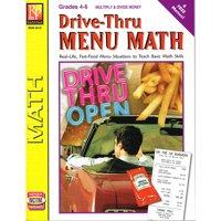 DRIVE THRU MENU MATH MULTIPLY & DIVIDE MONEY