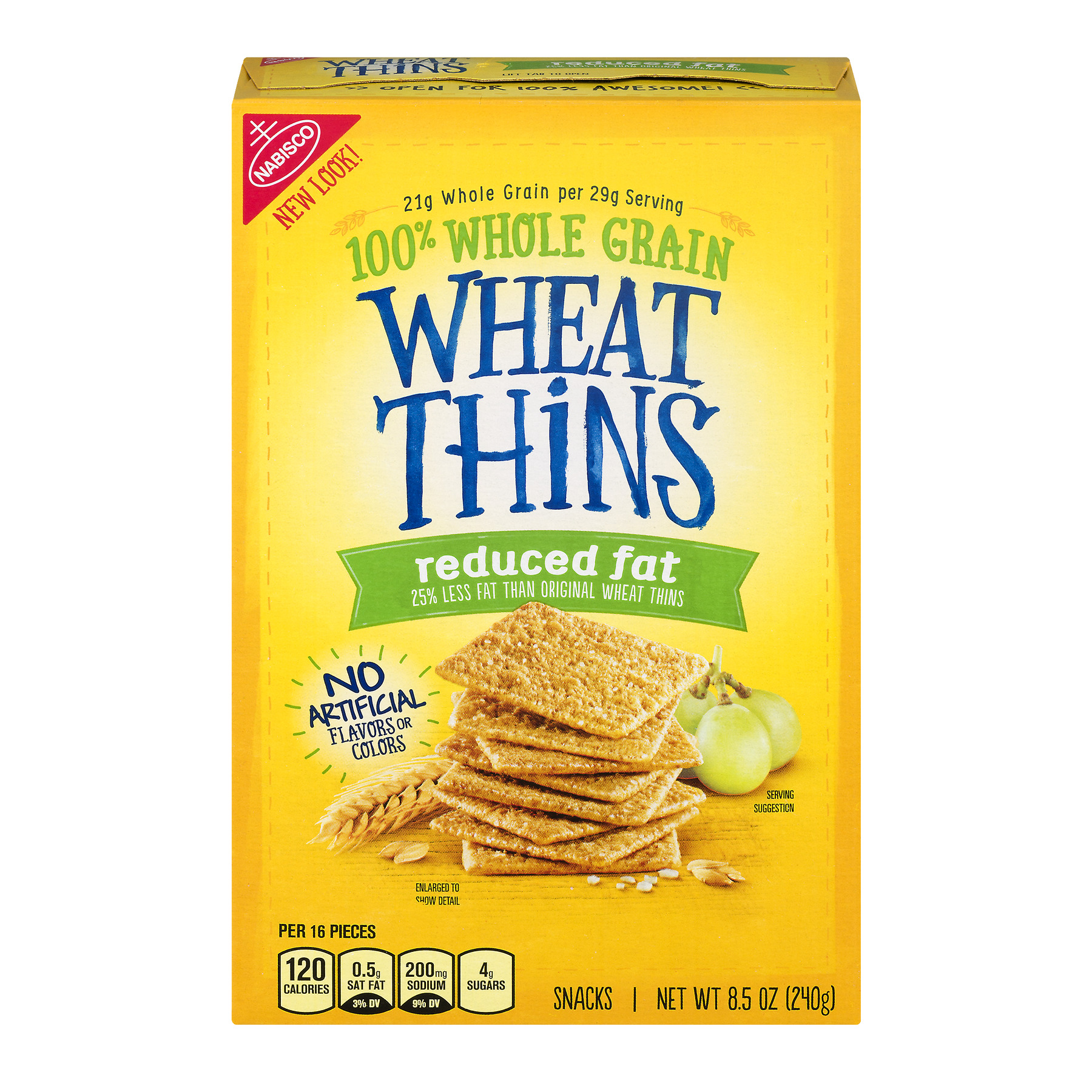 Nabisco Wheat Thins Reduced Fat, 8.5 OZ