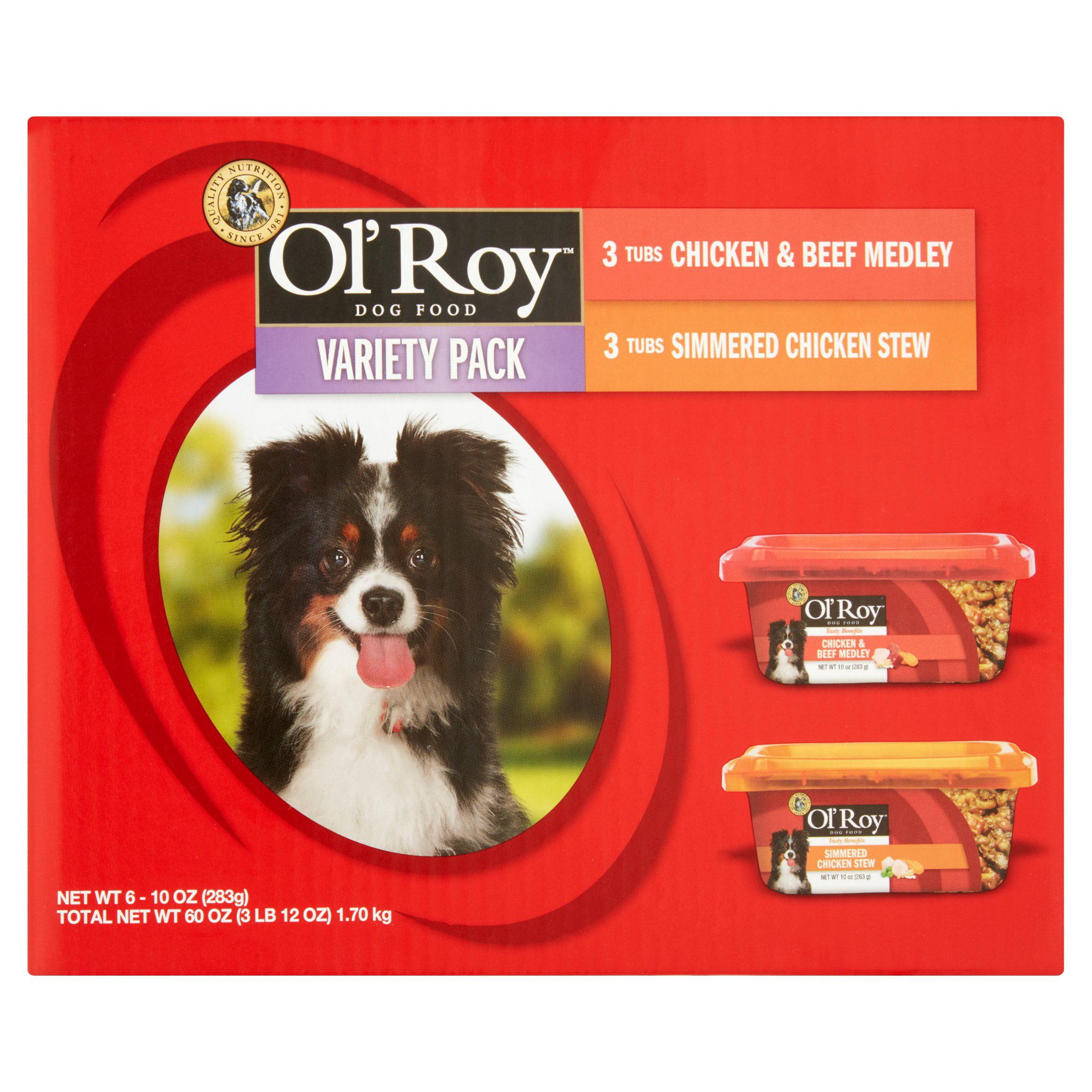 Ol' Roy Variety Pack Wet Dog Food, 10 Oz, 6 Ct