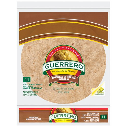 "Guerrero 100% Whole Wheat 8"" Flour Tortillas, 11 ct"
