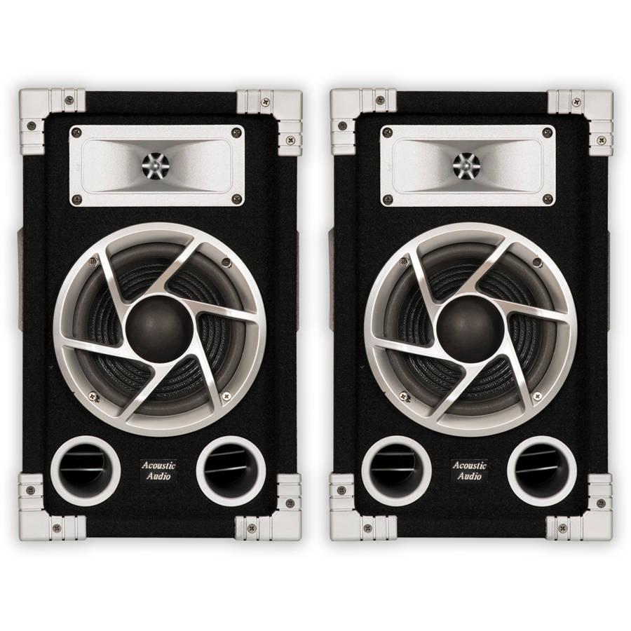 Acoustic Audio GX-400 PA Karaoke DJ Speakers, 1200W, 2 Way, Pair