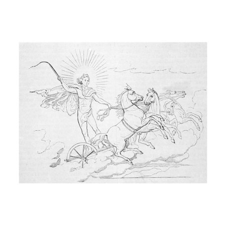Helios Riding Horse Led Chariot Print Wall Art