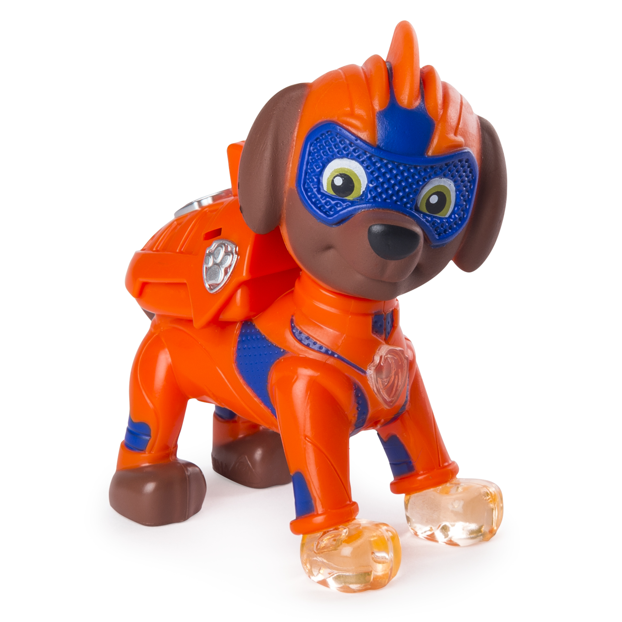 Nice PAW Patrol Mighty Pups Zuma Figure With Light Up Badge And Paws, For Ages