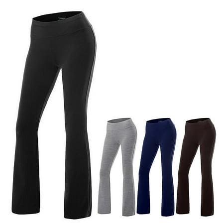 women bootcut yoga pants tummy control workout casual