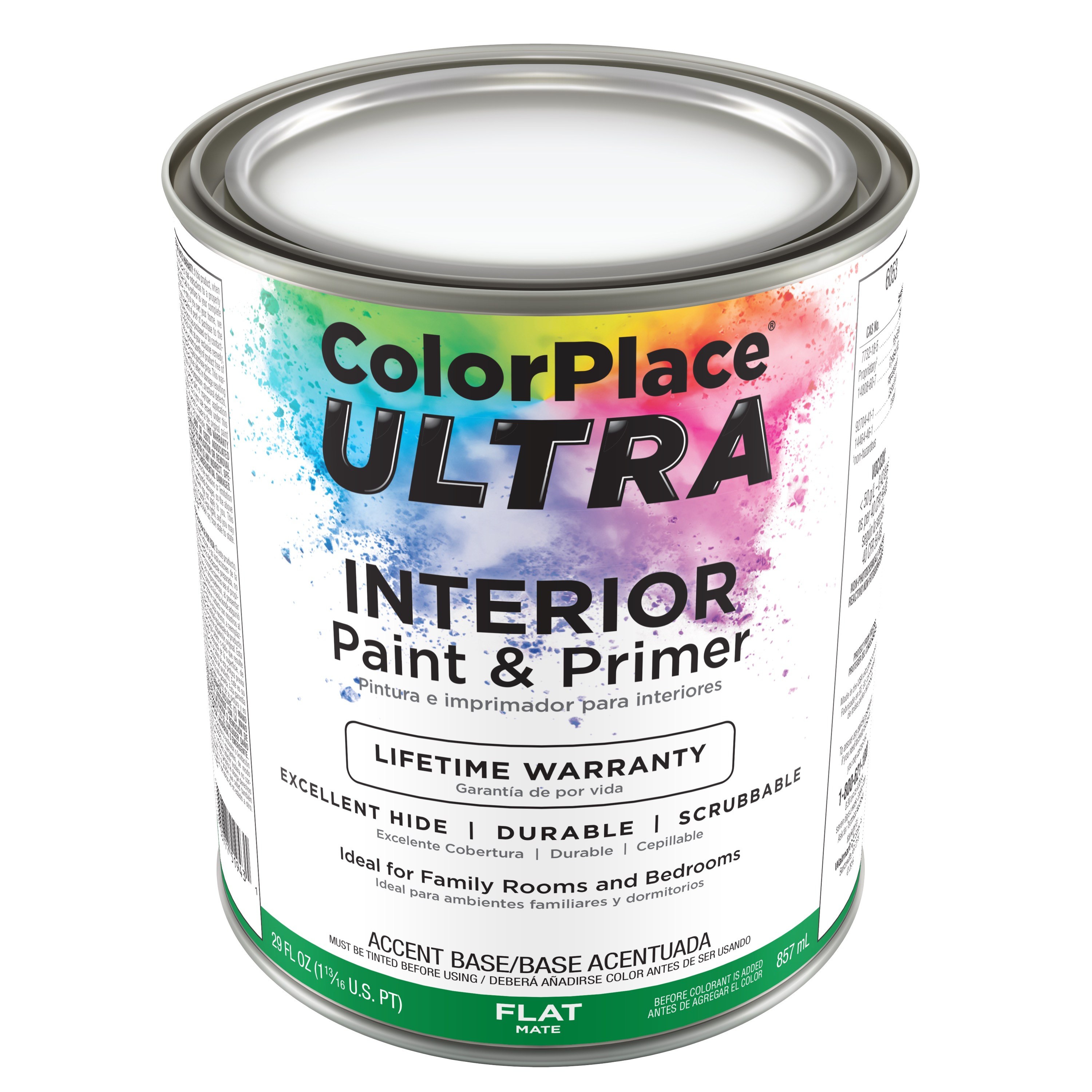 Color Place Ultra Flat Interior Paint & Primer Accent Base 1-Qt
