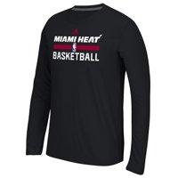 Miami Heat adidas Youth Practice ClimaLITE Long Sleeve T-Shirt - Black
