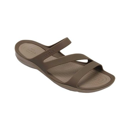 - Crocs Swiftwater Sandal Women  Open Toe Synthetic Tan Slides Sandal