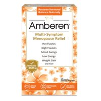 Amberen: Safe Multi-Symptom Menopause Relief, Clinically Shown to Relieve 12 Menopause Symptoms: Hot Flashes, Night Sweats, Mood Swings, Low Energy and More, 1 Month Supply, 60 Capsules