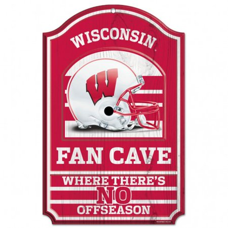 Wisconsin Badgers Wood Sign - 11