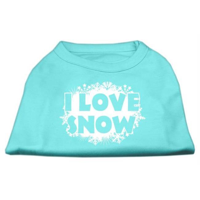 Mirage Pet Products 51-25-09 XXXLAQ I Love Snow Screenprint Shirts Aqua XXXL - 20 - image 1 of 1