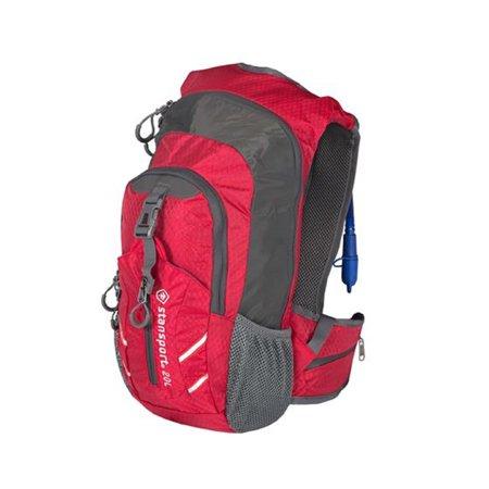 Stansport Daypack With Water Bladder 20 Liter Red