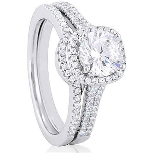 Doma Jewellery SSRZ6097 Sterling Silver Ring With Micro Set Cubic Zirconia, Size 7