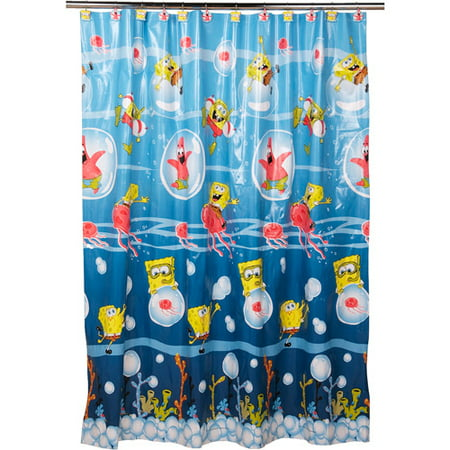 Spongebob Shower Curtain And Hook Set Walmart Com