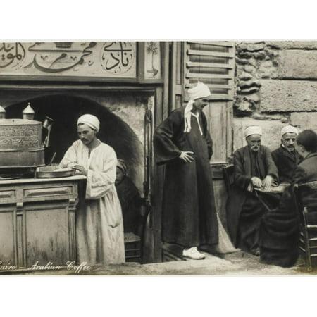 Arabian Street Cafe Scene - Cairo, Egypt Print Wall - Egyptian Arabian
