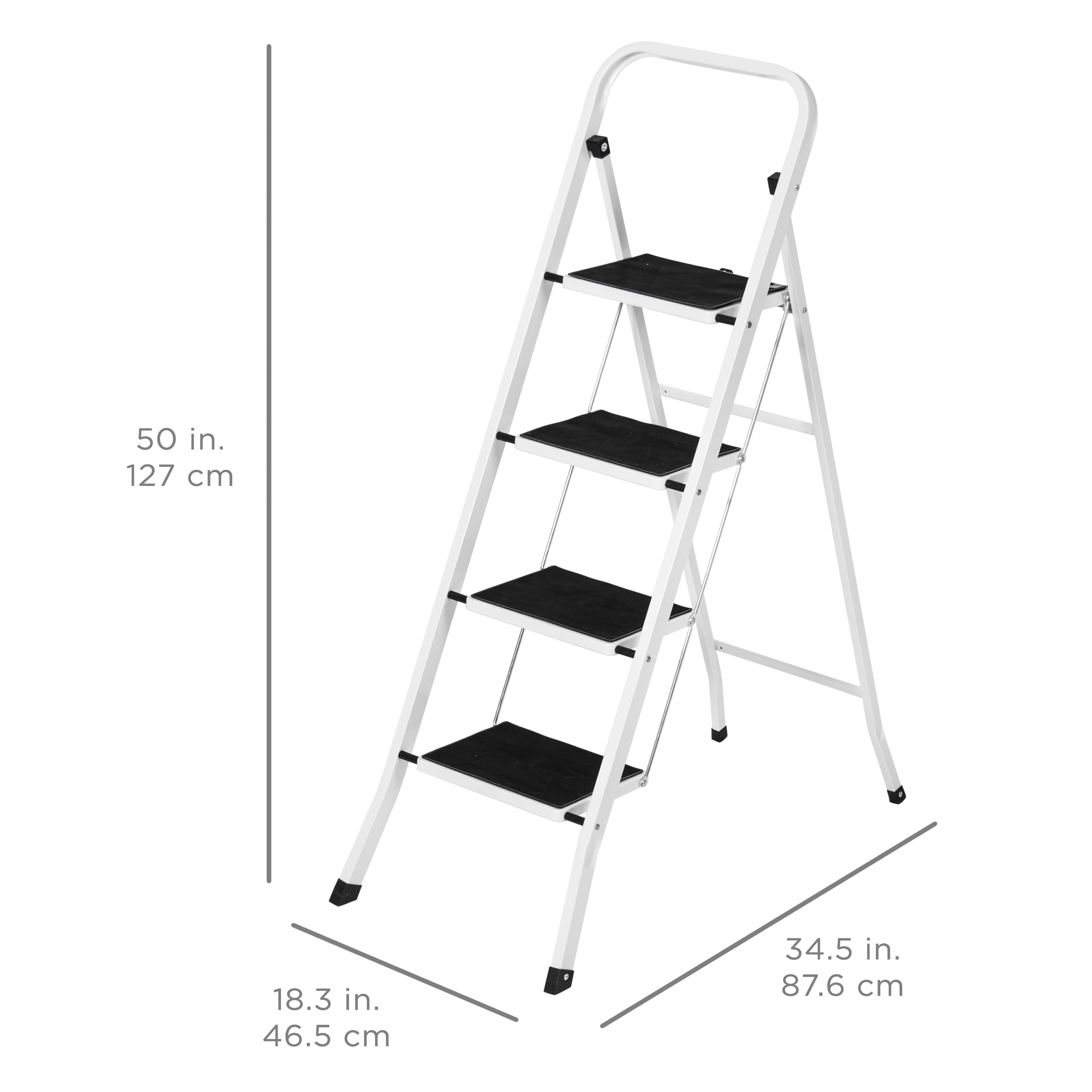 Astonishing Best Choice Products Portable Folding 4 Step Ladder Steel Ncnpc Chair Design For Home Ncnpcorg