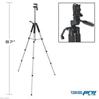 """I3ePro BP-TR57 57"""" Professional Tripod with 3-way Panhead Tilt Motion & Built In Bubble Leveling for Sony HDR-PJ200 Handycam Camcorder"""
