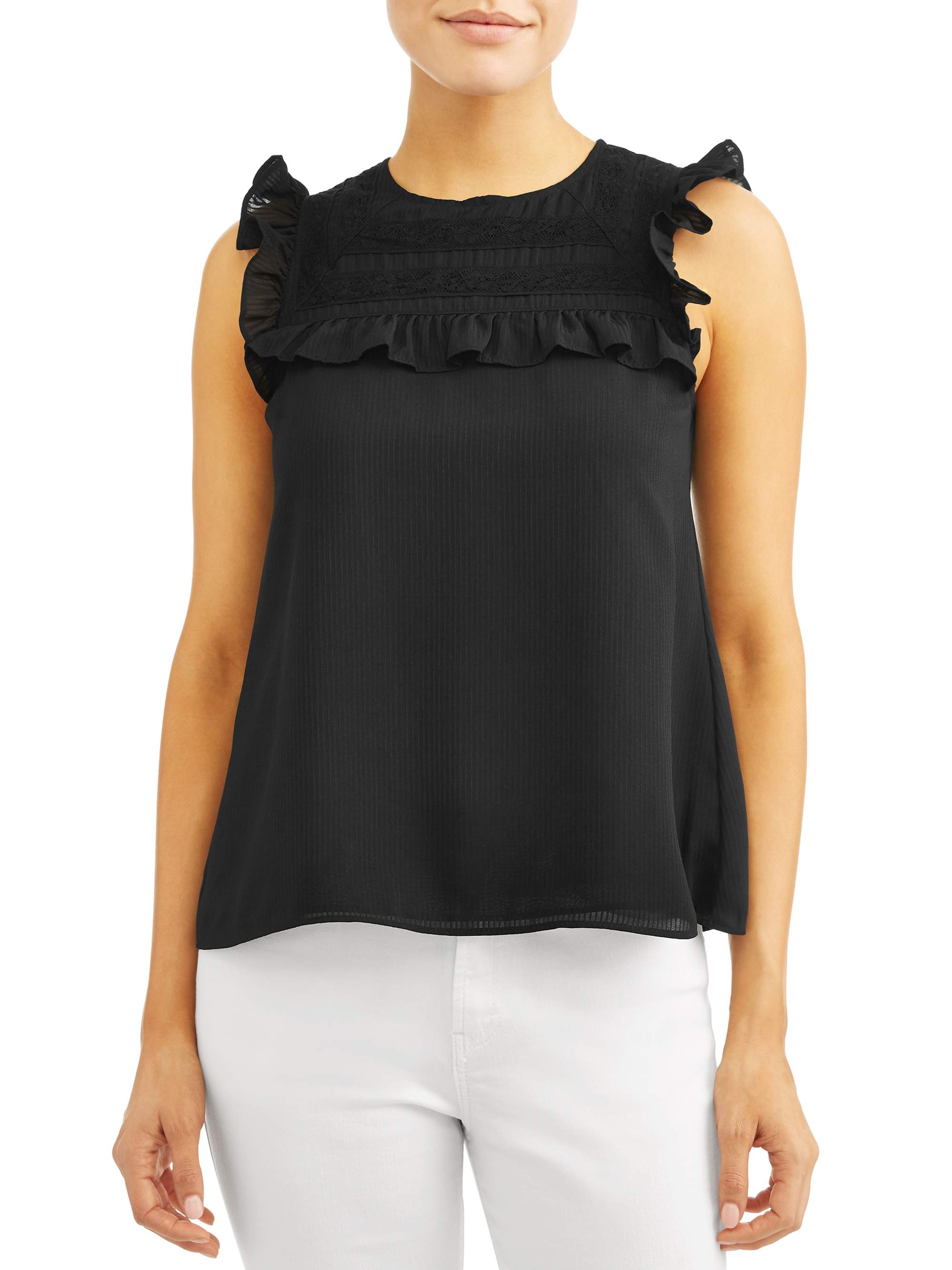 Women's Pipa Sleeveless Bibbed Top