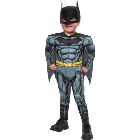 Batman Fiber Fill Boys Toddler Halloween Costume (Toddler Farmer Halloween Costume)