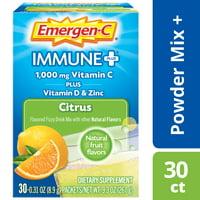 Emergen-C Immune+ (30 Ct, Citrus) Immune Support Powder Packets