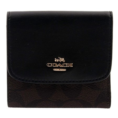 COACH Signature PVC Leather Small Trifold Wallet in (Signature Small Wallet)