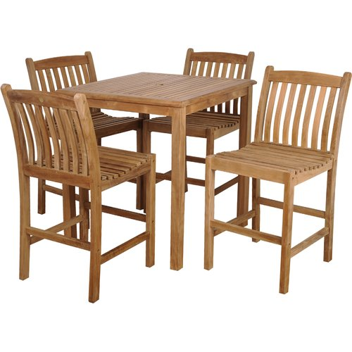Sol 72 Outdoor Brighton Teak 5 Piece Dining Set