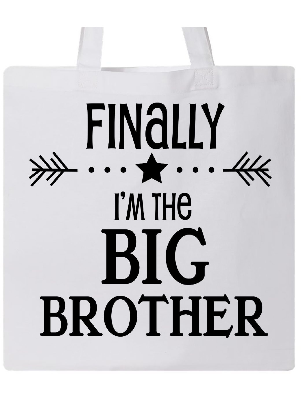 I/'m going to be a Big Sister Birthday baby  kids Tote Bag  Cotton White