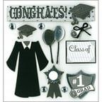 K & Company Dimensional Stickers, Graduation Day