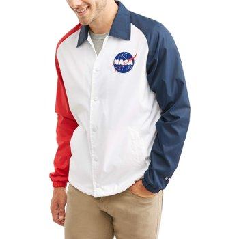 NASA Men's Button Down Windbreaker Jacket