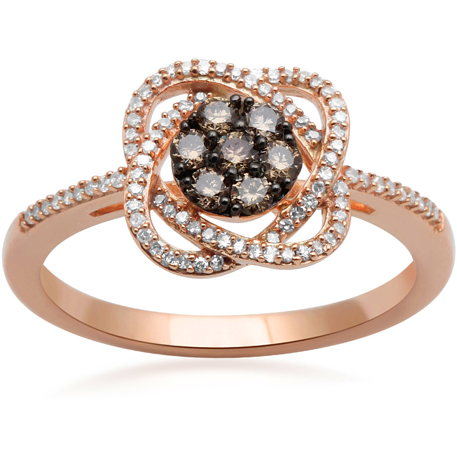 1/3 Carat T.W. Diamond 10kt Pink Gold Fashion Ring