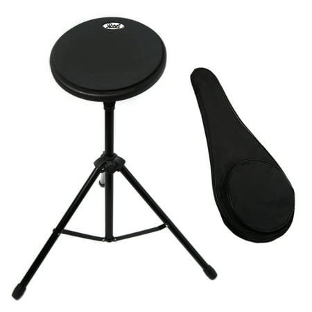 Paititi 8 inch Practice Drum Pad with Adjustable Stand with 7A sticks and Carrying Bag