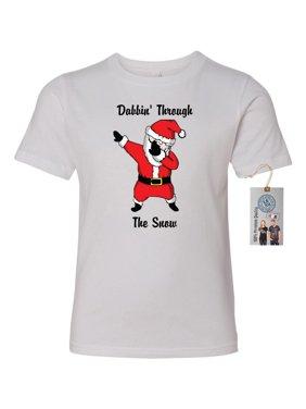 d7708363f Product Image Dabbin Santa Christmas Youth Short Sleeve T-Shirt