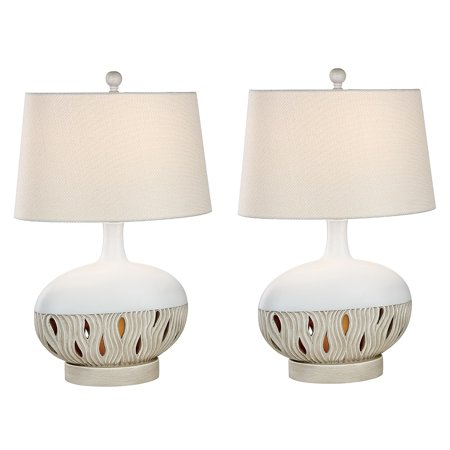 Madison Avenue Furniture International Seahaven Transitional Coastal Table Lamp - Oyster Matte