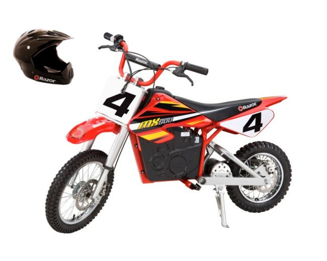 Razor MX500 Dirt Rocket Electric Bike Motorcycle & Full Face Youth Helmet by Razor