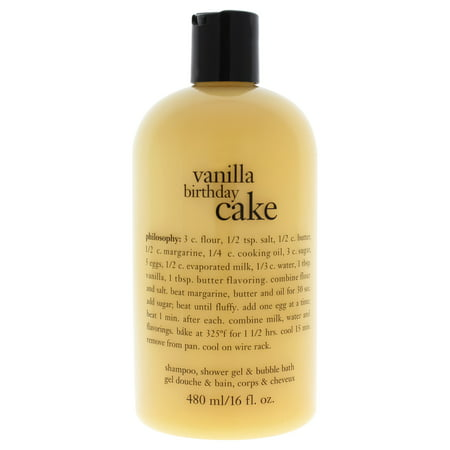 - Philosophy Vanilla Birthday Cake Shampoo, Bath & Shower Gel, 16 Oz