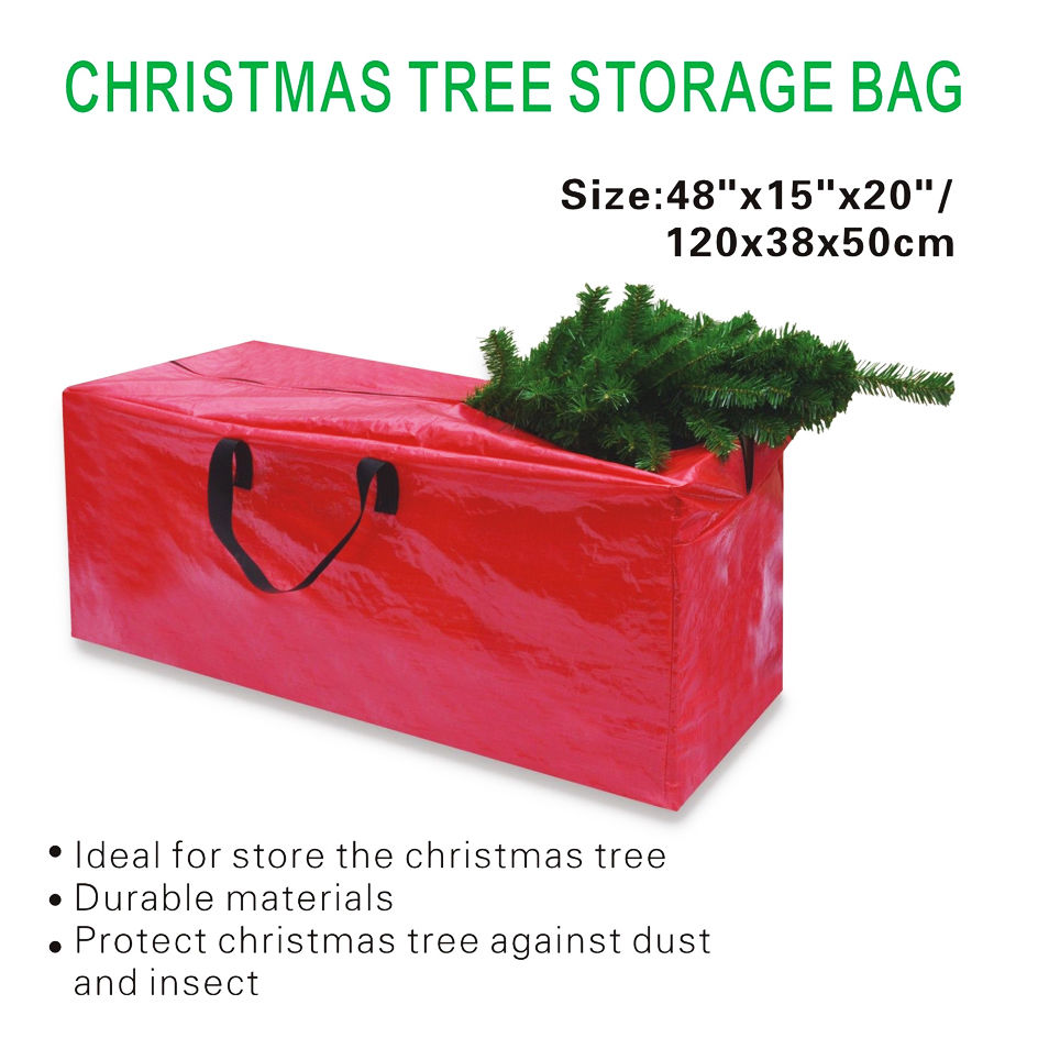 heavy duty large artificial christmas tree bag for clean up holiday red - Christmas Tree Bags