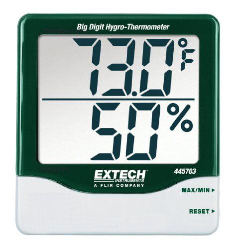 Extech Big Digit Indoor Outdoor Thermometer Home Work Temperature