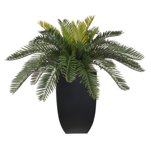 House of Silk Flowers Inc. Artificial Cycas Palm Floor Plant in Planter
