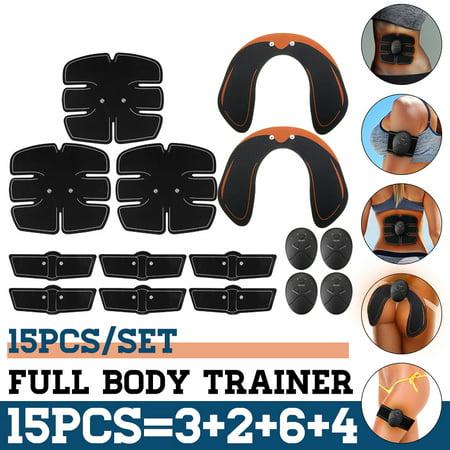 15PCS/Set Full Body EMS Trainer Hip Butt Lifter Buttocks Enhancer, Muscle Training Abs Workout Smart Body Building Slimming Shaper Fitness