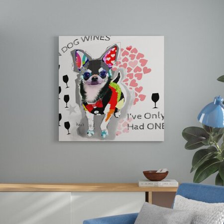 Ebern Designs 'In Dog Wines    Chihuahua' Print