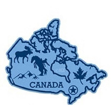 Counter Magnet (Canada the Country Map Fridge Magnet )