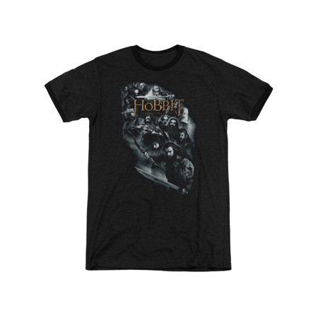 The Hobbit Movie Thorin's Company Cast of Characters Adult Ringer T-Shirt Tee ()