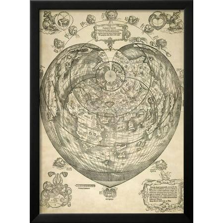 World map framed print wall art walmart world map framed print wall art gumiabroncs Image collections