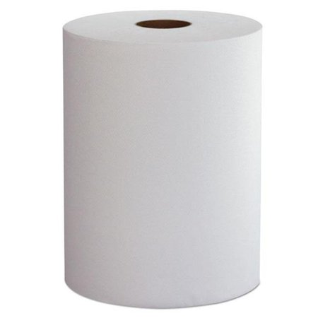 10 in. x 800 ft. 1 Ply Hardwound Roll Towels - White, 6 Per Case ()