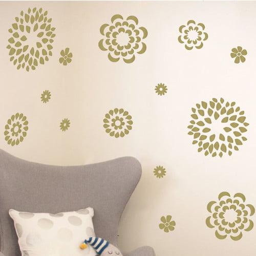 The Decal Guru Flower Pattern Wall Decal Set