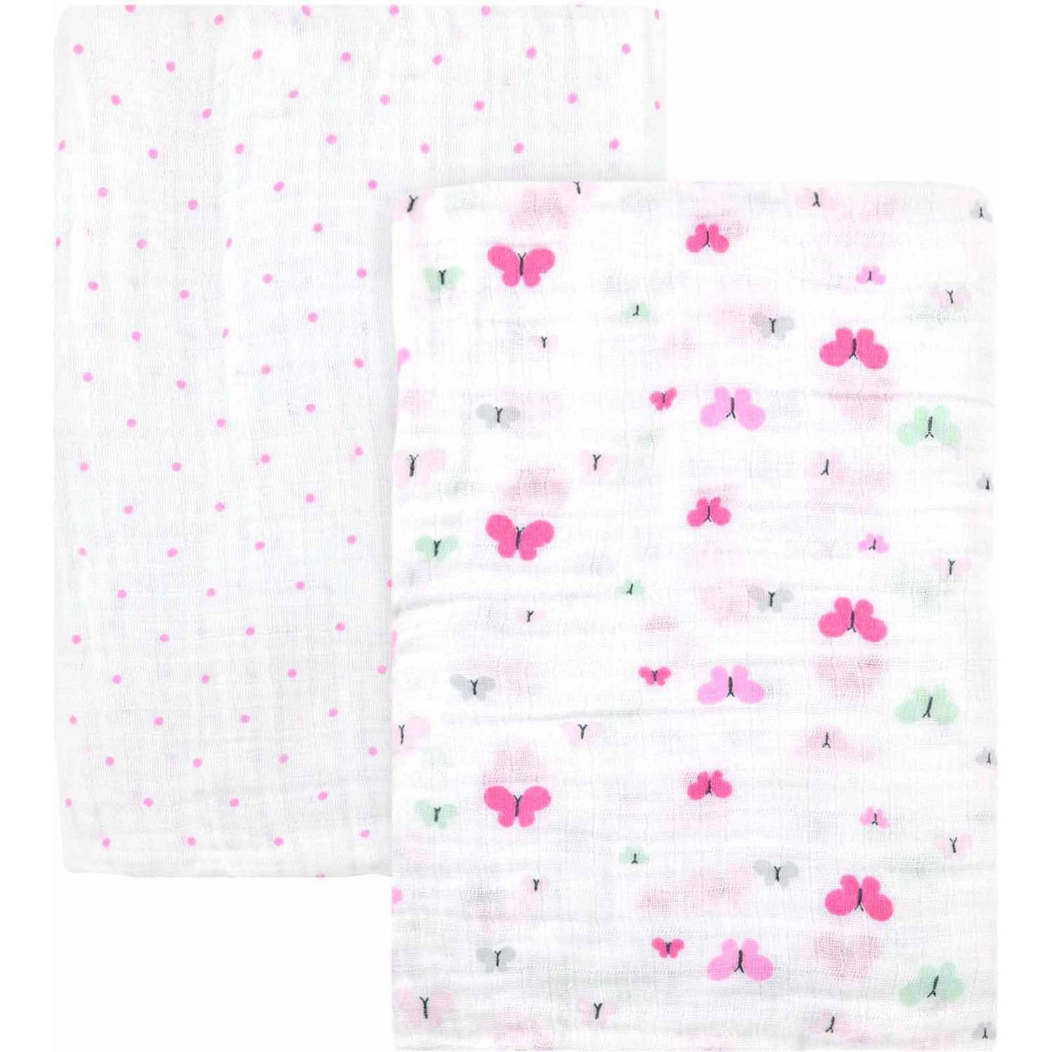 Child of Mine by Carter's Little Birds and Friends 2-Pack Muslin Blankets